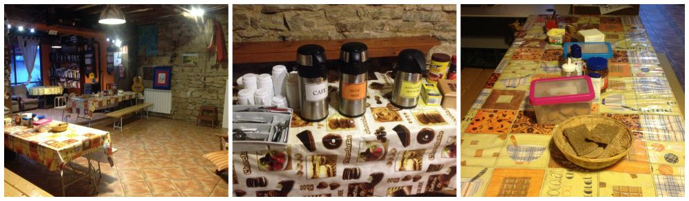 Breakfast in the Albergue La Fuente Casa Austria