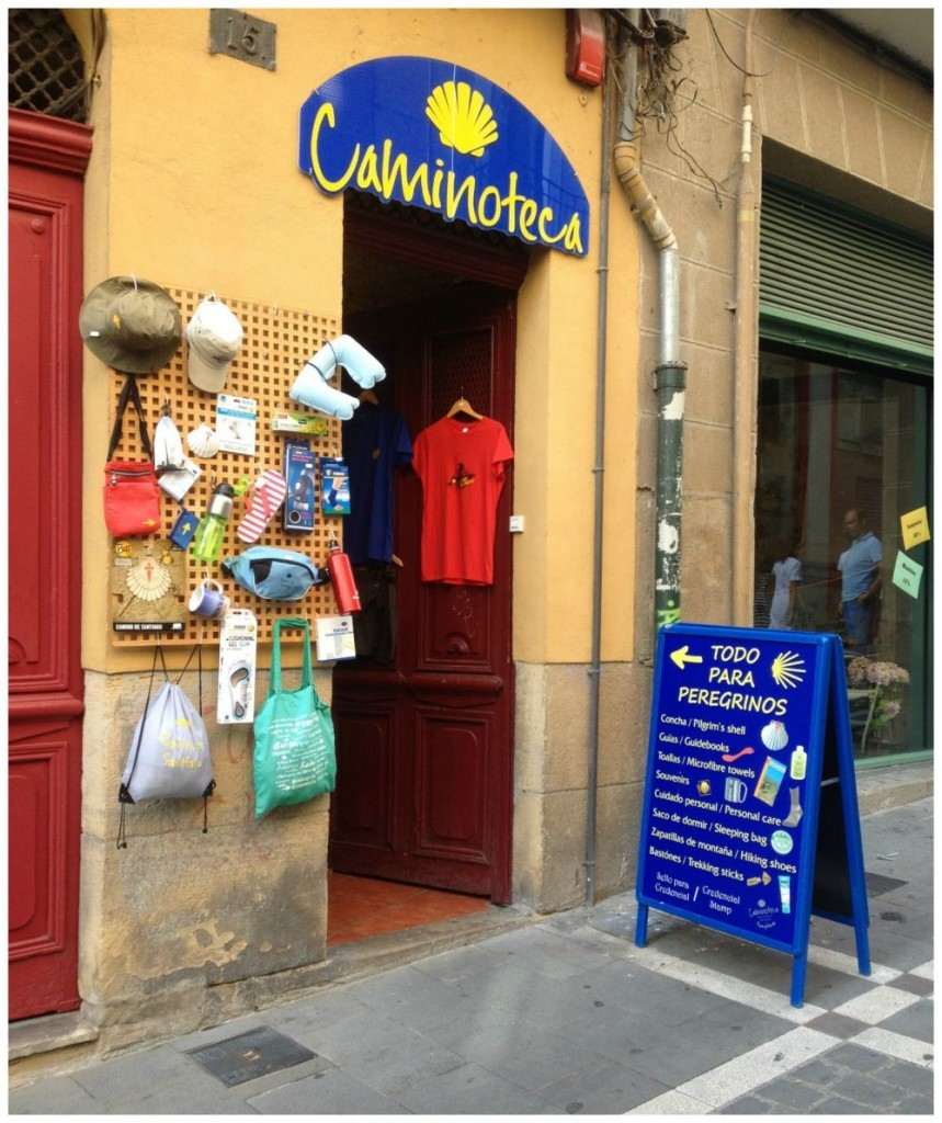 Caminoteca, a great pilgrim shop in Pamplona