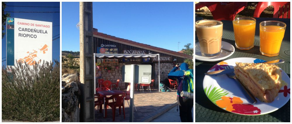 Cardenuela Rio Pico for breakfast on the way