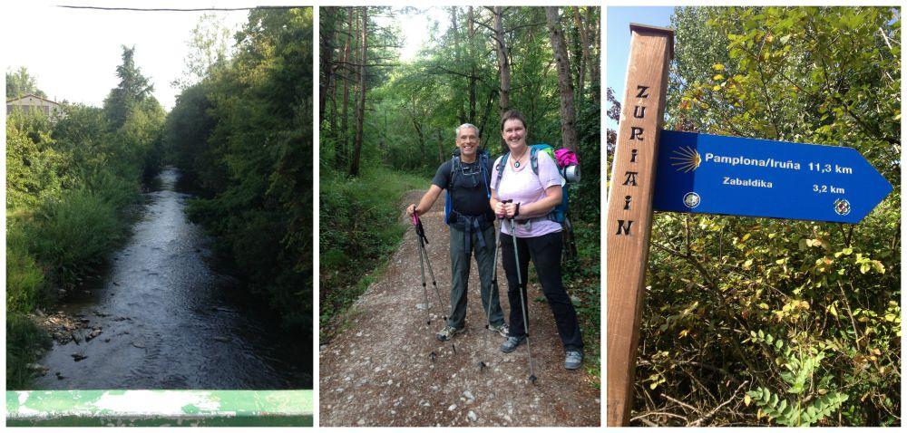 Enjoying the Camino between Zubiri and Zuriain