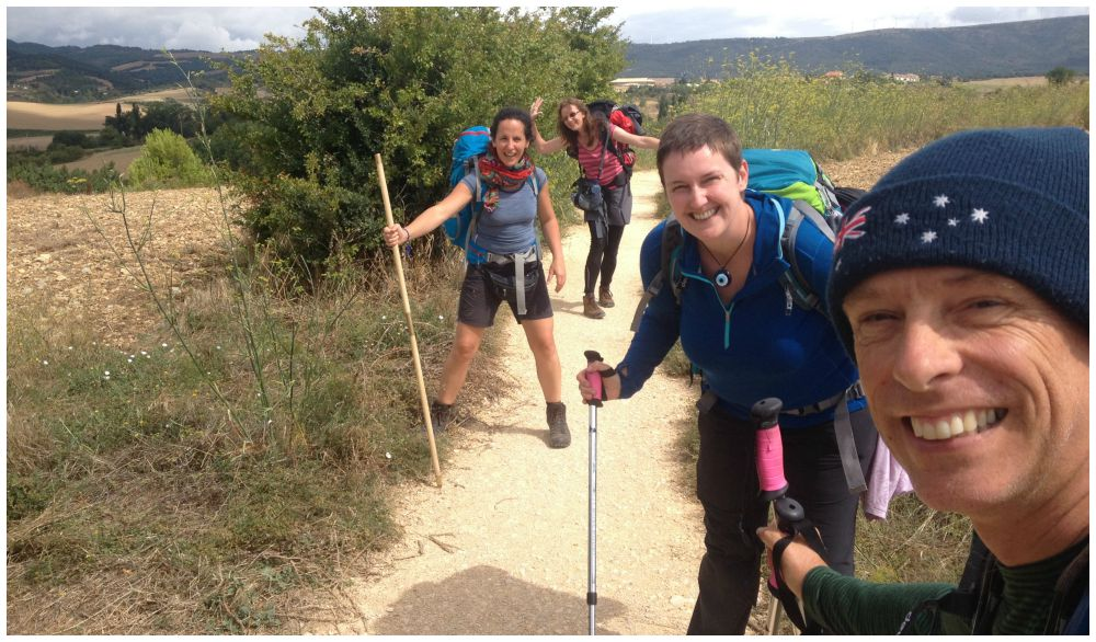 Happy times on the Camino with Cettina & Inge