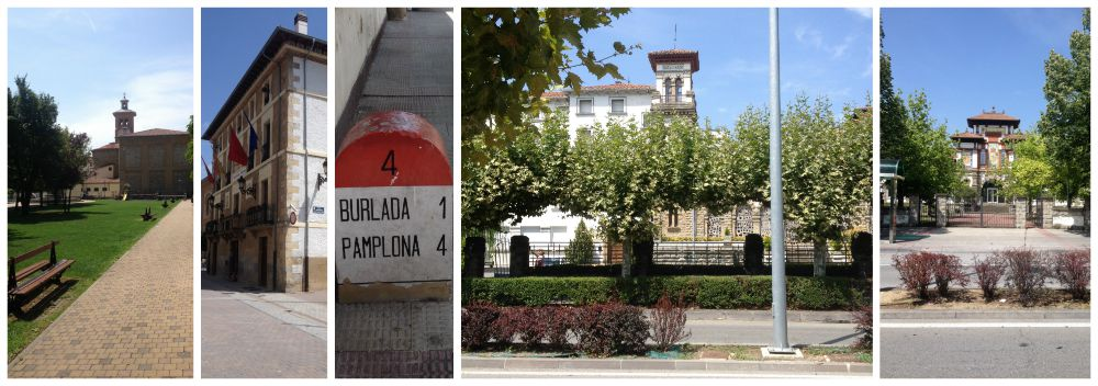 Images walking towards Pamplona on the Camino 2015