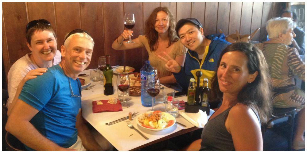 Inge, Motoi, Cettina, Moni & I at lunch