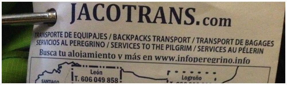 Jacotrans.com bag forwarding service on the Camino