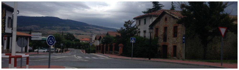 Leaving Pamplona on the Camino way 2015