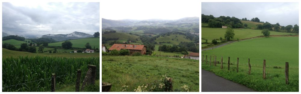 Leaving St Jean Pied de Port on the Camino 2015