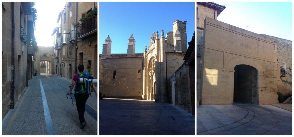 Leaving Viana on the Camino