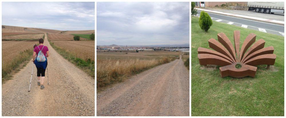 Long straight paths to Santo Domingo de la Calzada