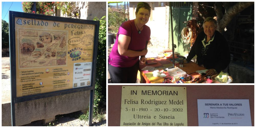 Mary the lady who continues her mothers tradition of stamping pilgrims credentials on the Camino