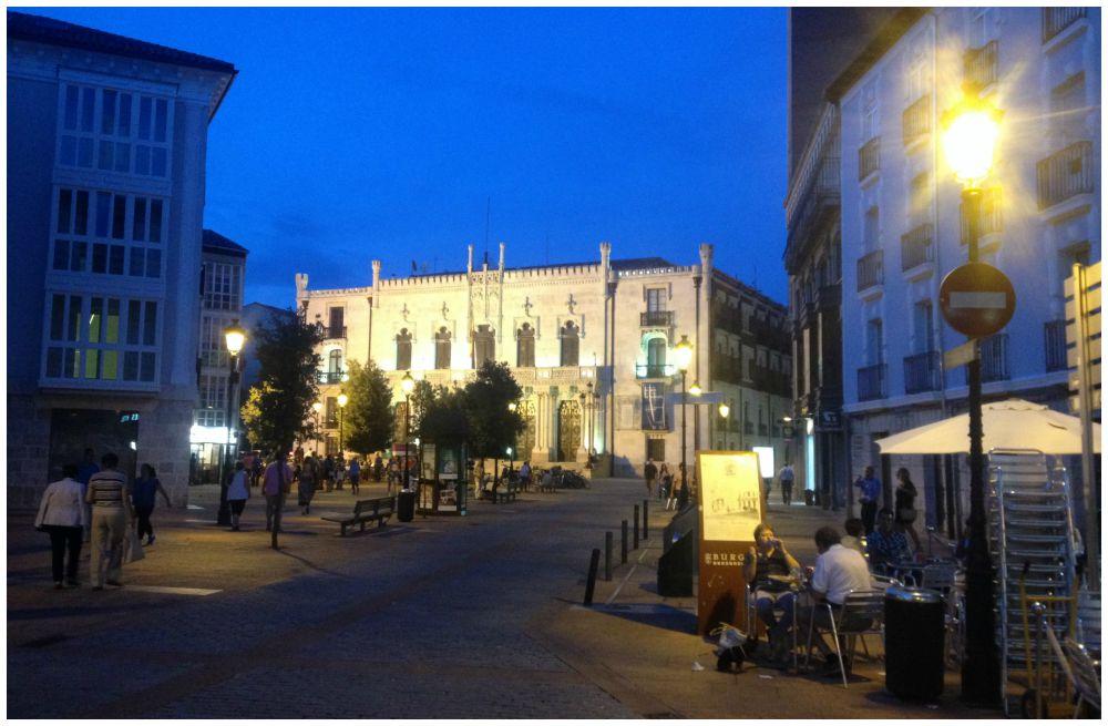 Night view from Burgos