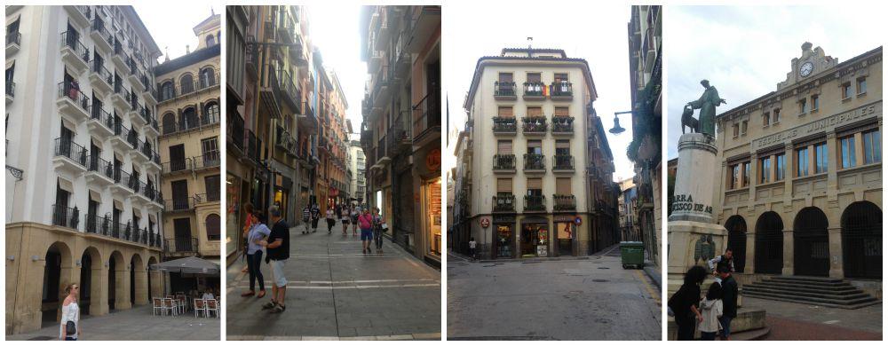 Pamplona city on the Camino way 2015