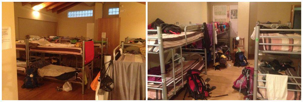 Pilgrim hostel bunk beds