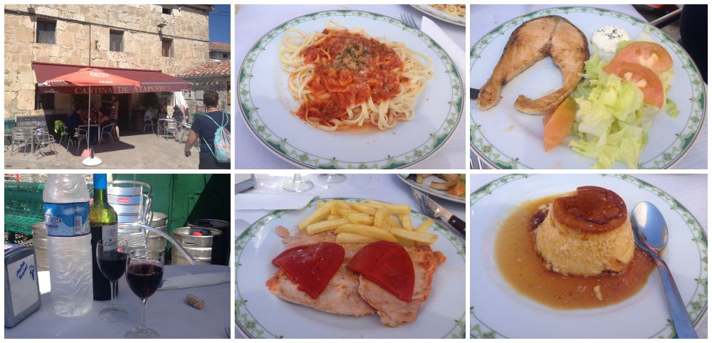 Pilgrim lunch in Atapuerca at the Catina