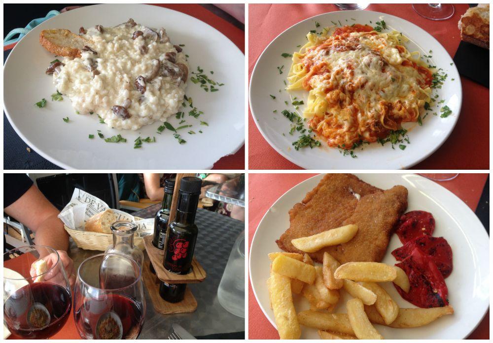 Pilgrim menu in Pamplona restaurant 2015