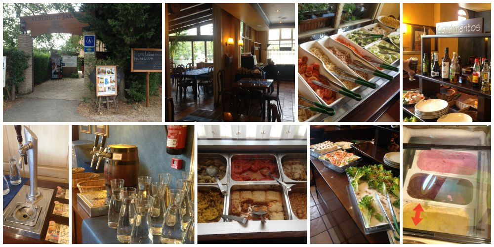 Puente le Reina - buffet lunch on the Camino 2015