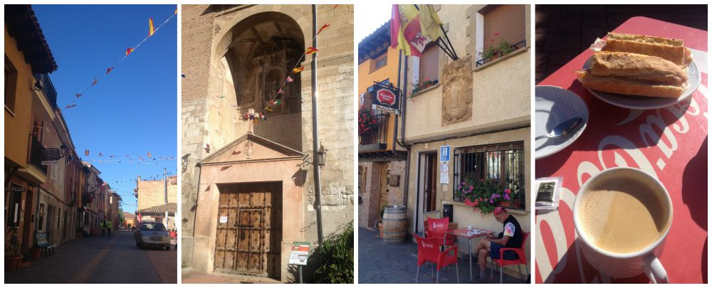 Redecilla del Camino for a breakfast stop on the Camino