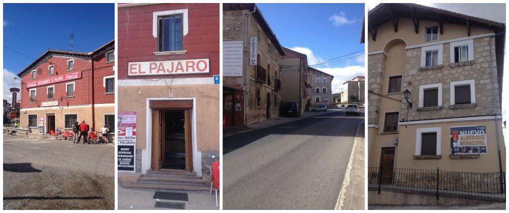 Restaurant El Pajaro and the Albergue municipal in Villafranca
