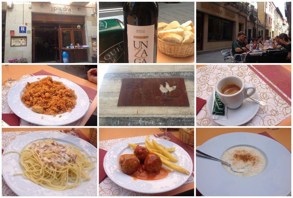 Restaurante Piedra in Santo Domingo for pilgrim lunch