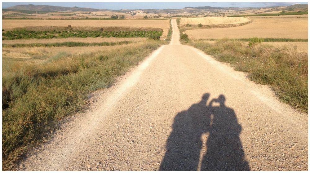 Shadows on the Camino way