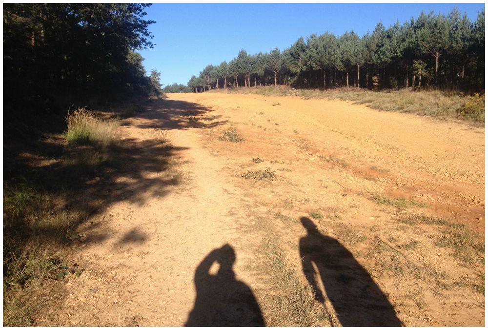 Shadows walking the Camino