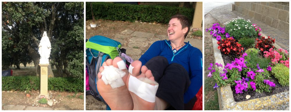 Some feet TLC for Moni on the Camino 2015