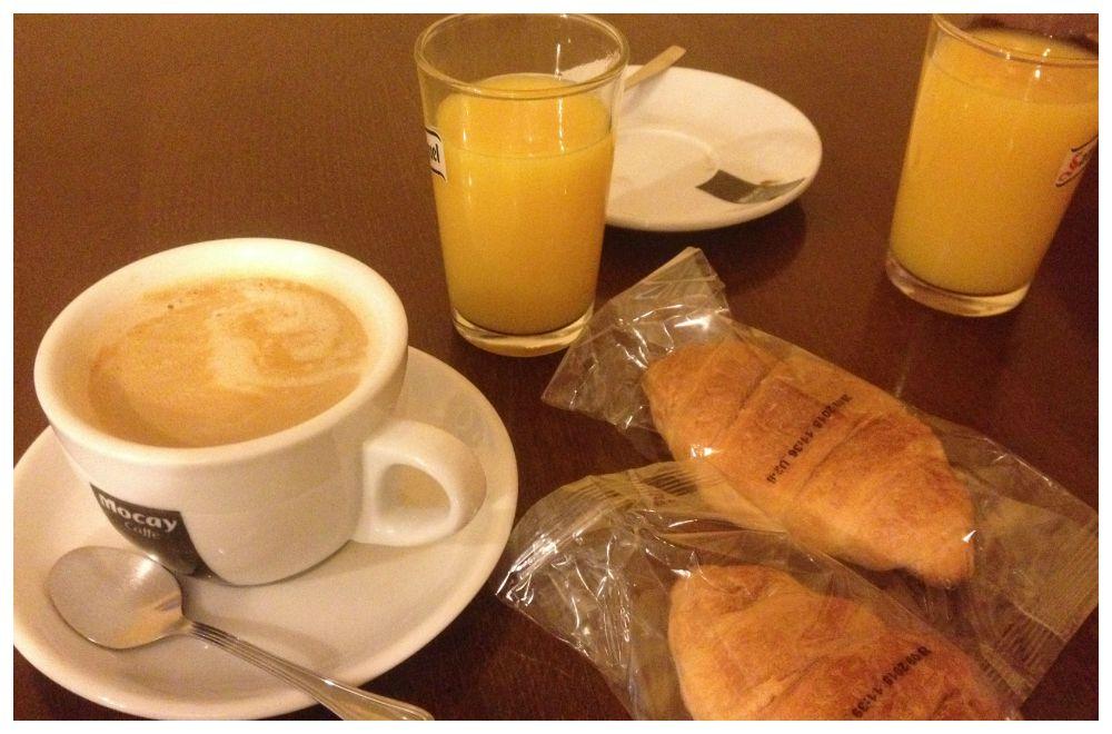 Standard pilgrim breakfast on the Camino 2015