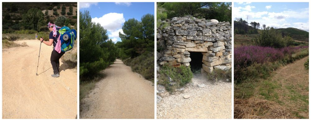 Steep descents, gravel roads, small shelters and colours on the Camino