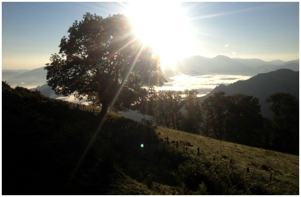Sunrise on the Pyrénées the Camino 2015