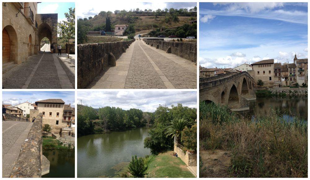 The bridge at Puente le Reina on the Camino 2015