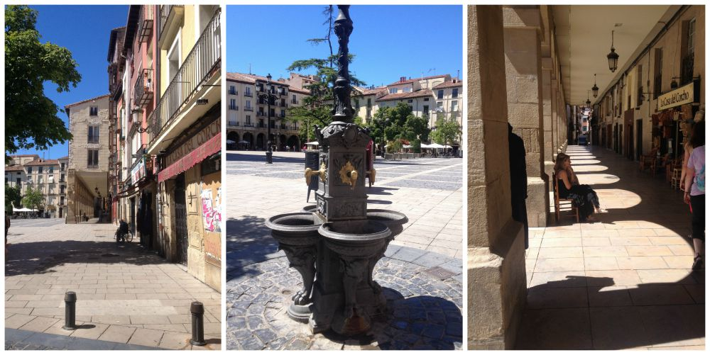 The city of Logroño on the Camino route