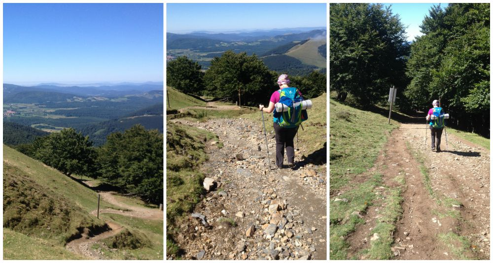 The tough walk down to Roncesvalles on the Camino 2015