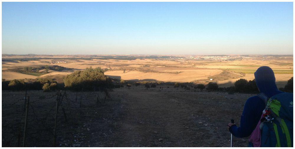 The view towards Burgos on the Camino