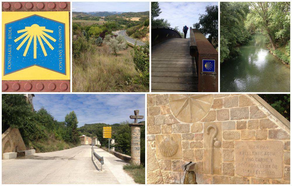 The walk into Estella on the Camino 2015
