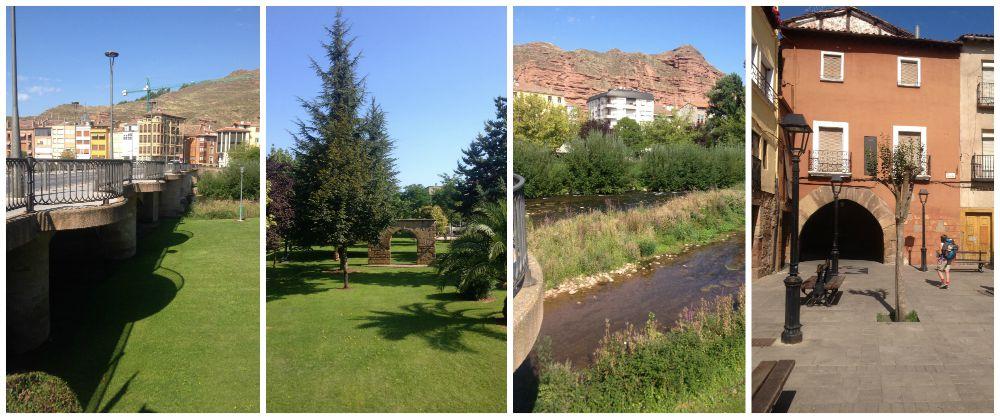 The walk through Najera to Azfora on the Camino