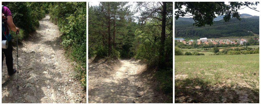 The way down from Erro to Zubiri on the Camino 2015