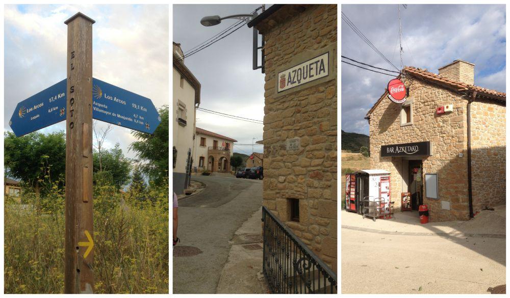 The way to Los Arcos via Azqueta on the Camino