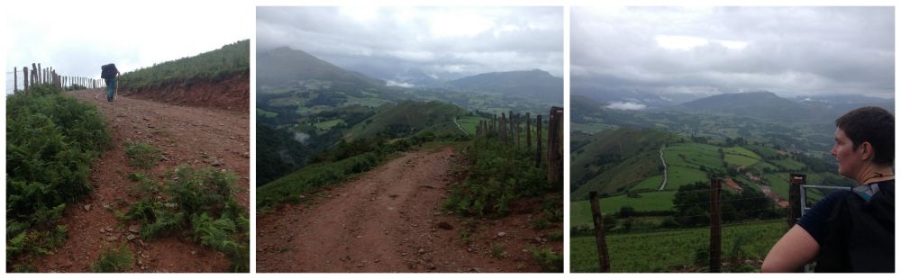 The way to Orisson on the Camino way 2015
