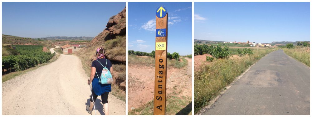 The way to Santiago, only 580 Kms to go