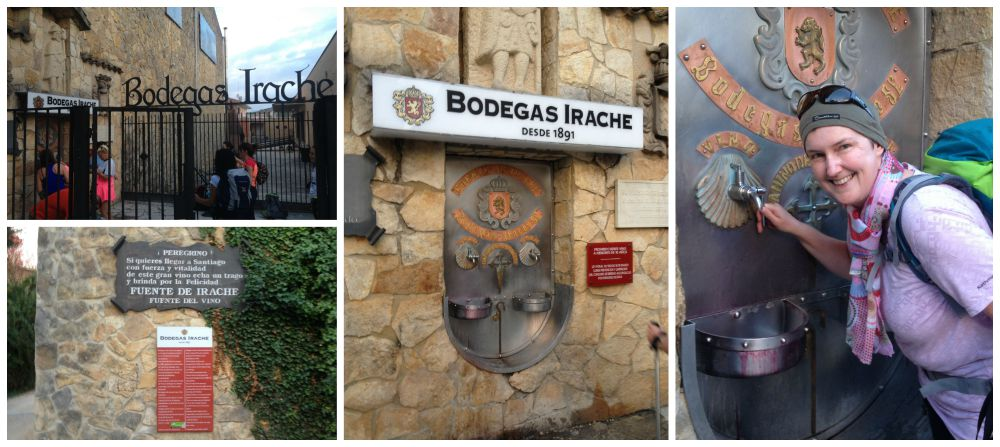 The wine fountain from Bodegas Irache on the Camino