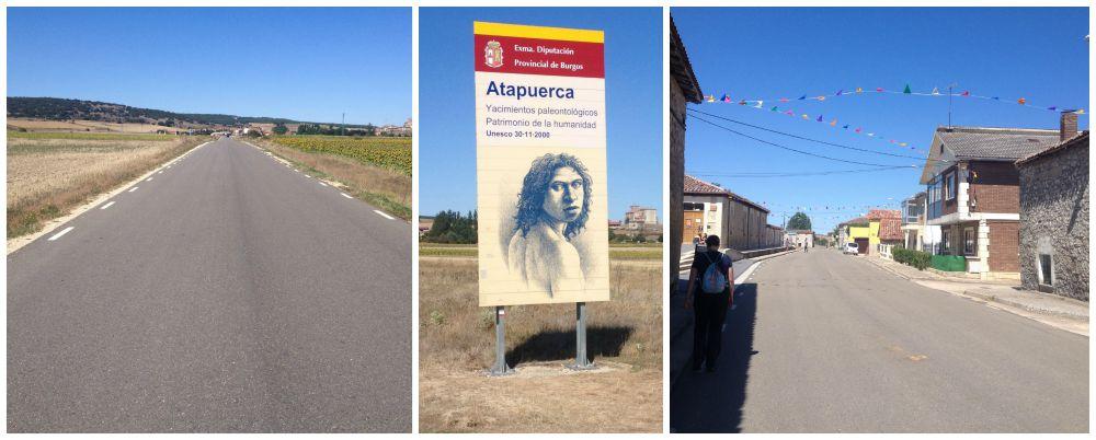 Walking into Atapuerca on the Camino