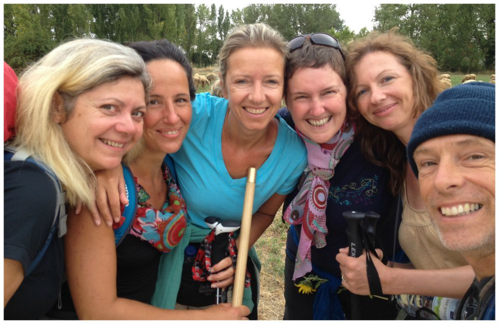 All smiles in the group on our Camino