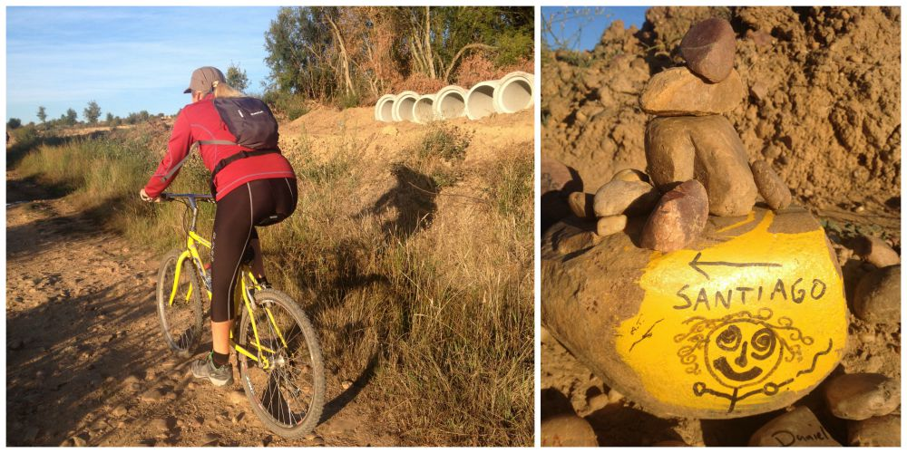 Barbara on the her sunflower bike