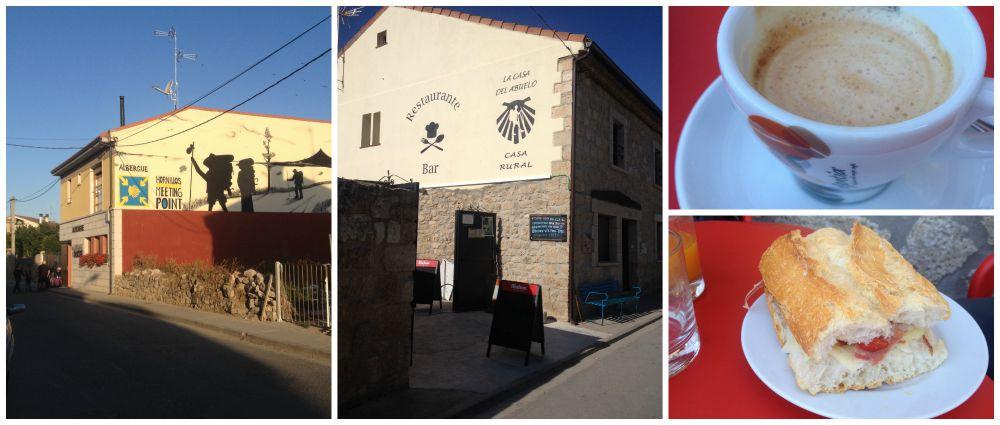 Breakfast at La Casa del Abuelo in Hornillos del Camino