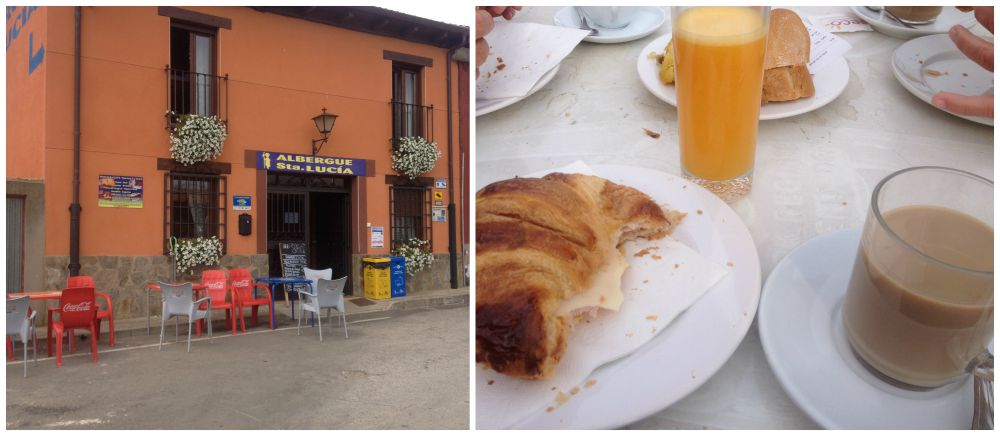 Breakfast at the Albergue Sta. Lucia
