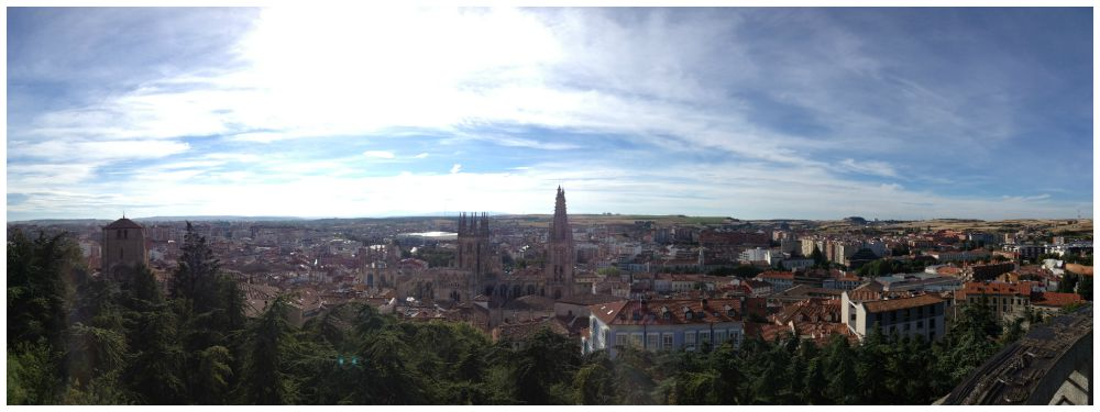 Burgos old city seen from the castle