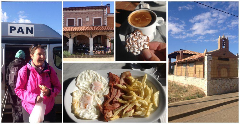 Calzadilla De Los Hermanillos, breakfast & coffee, buying croissants from the bread van