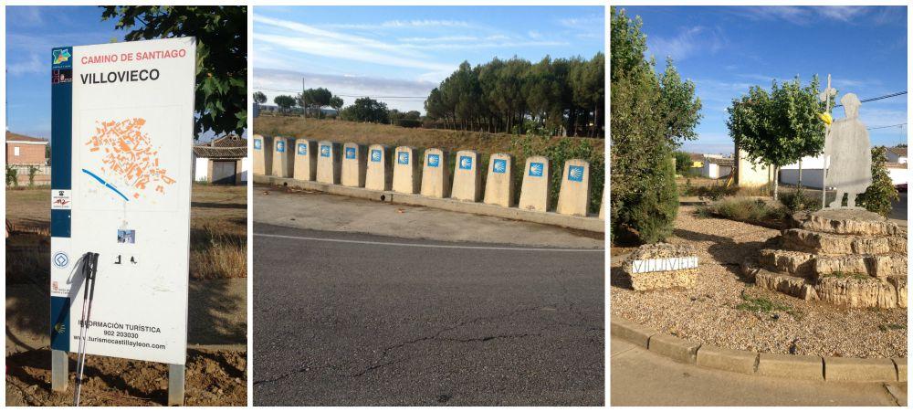 Camino signs in Villovieco