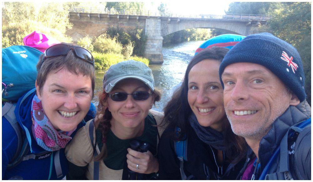 Crossing over the Rio Porma in Puente Villarente