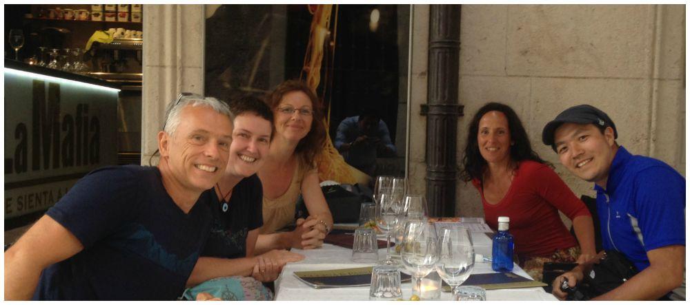 Dinner at La Mafia with friends