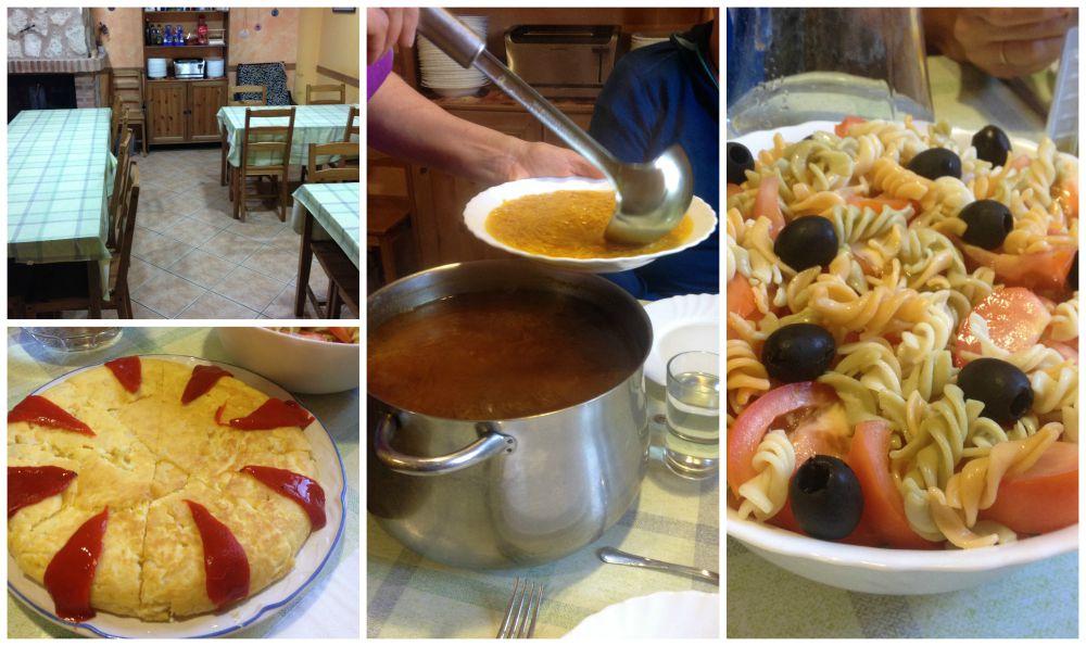 Dinner in the Albergue Liberanos Domine in Rabe de las Calzadas
